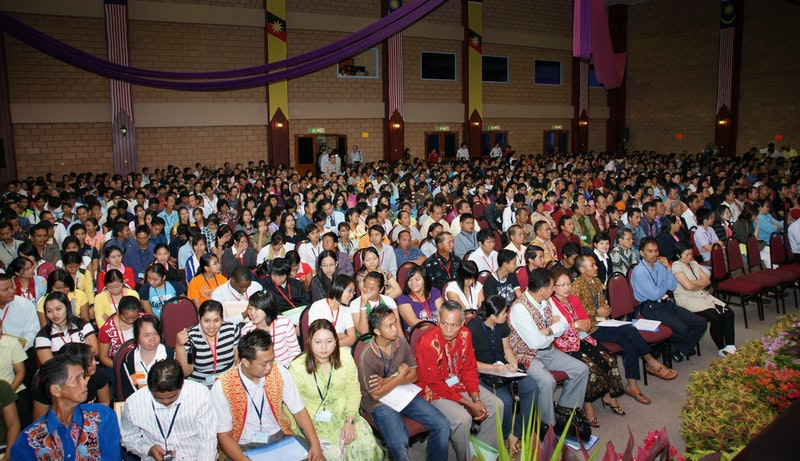 Kuching, Sarawak, one of 41 Regional Conferences held around the world called by the Universal House of Justice,  20 December 2008