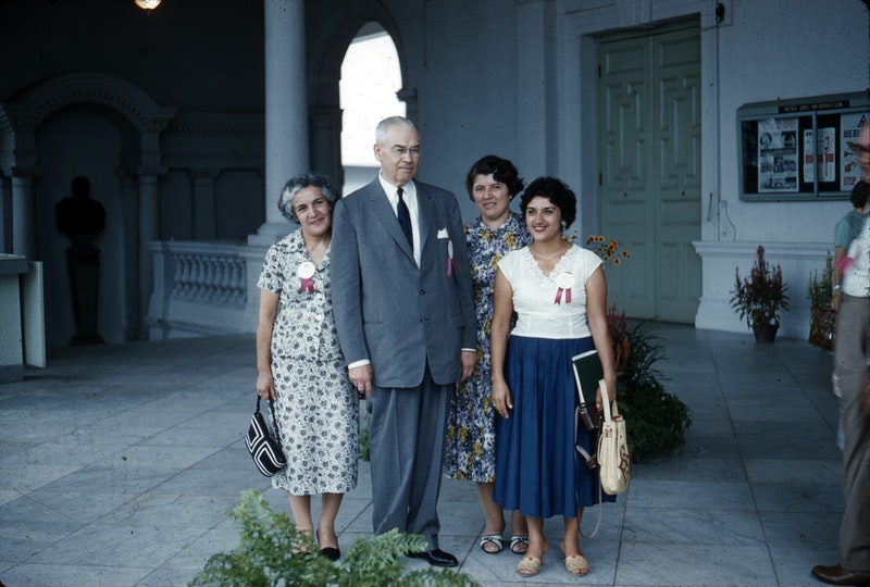 A group of atttendees at the Bahá'í Intercontinental Conference in Singapore, September 1958