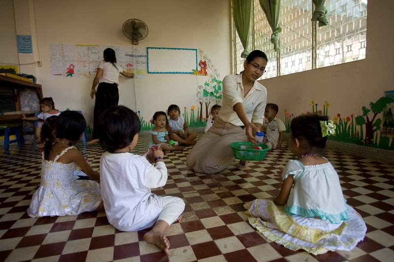 Gems International School, a Bahá'í-inspired kindergarten in Battambang, Cambodia