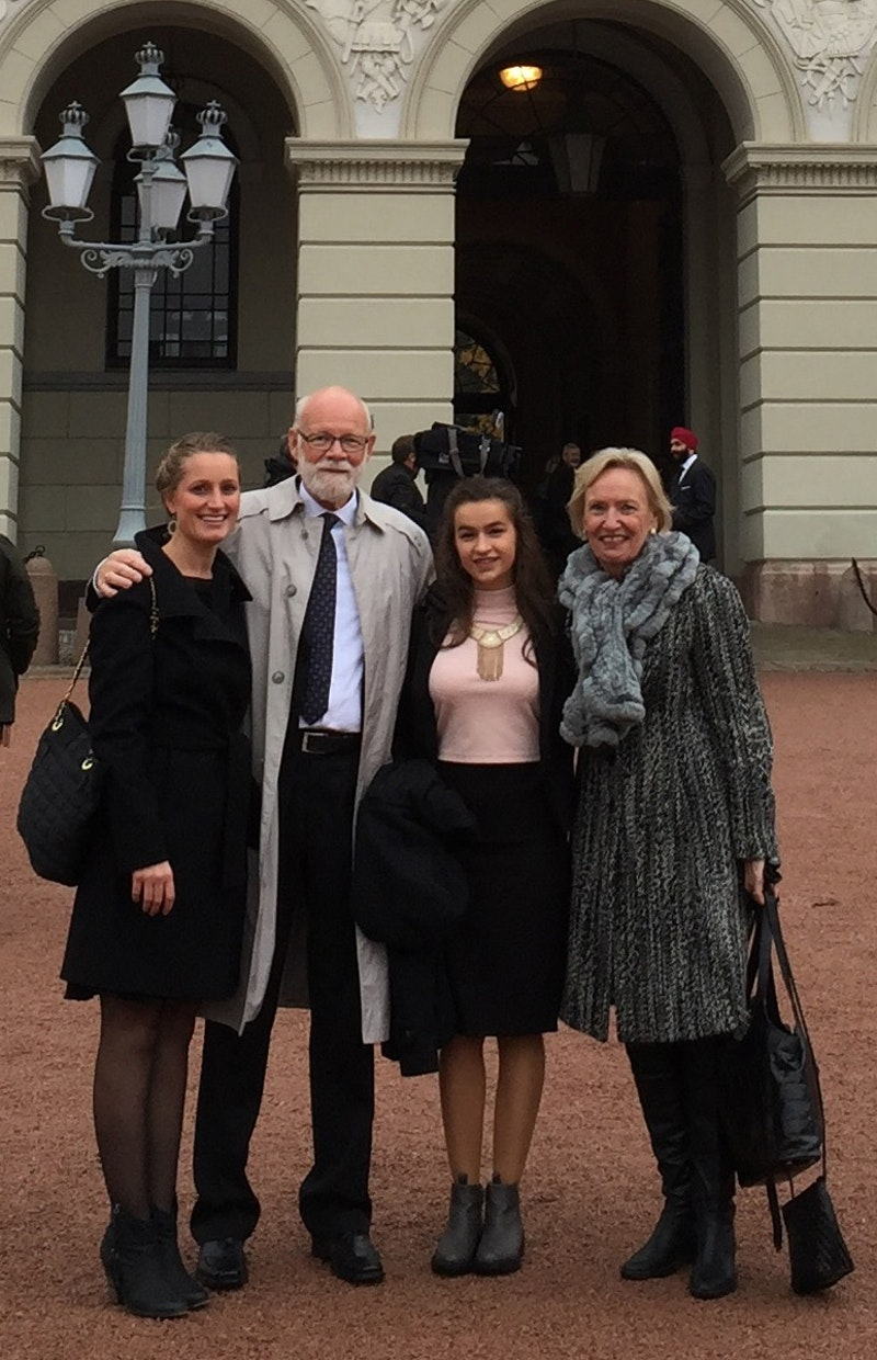 Representatives from the Baha'i community who attended an event hosted by the King and Queen of Norway to promote greater inter-ethnic and inter-religious dialogue and understanding