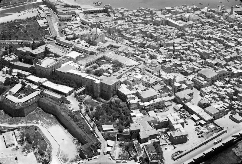 Aerial view of the citadel of 'Akká, May 1972