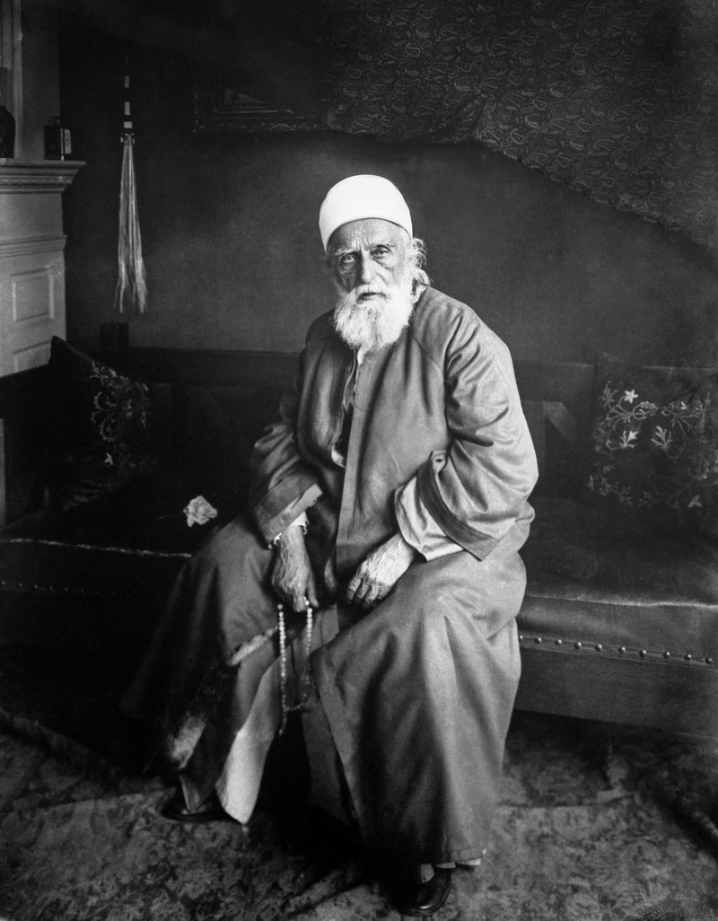 Portrait of 'Abdu'l-Bahá taken in New York, New York, December 1912