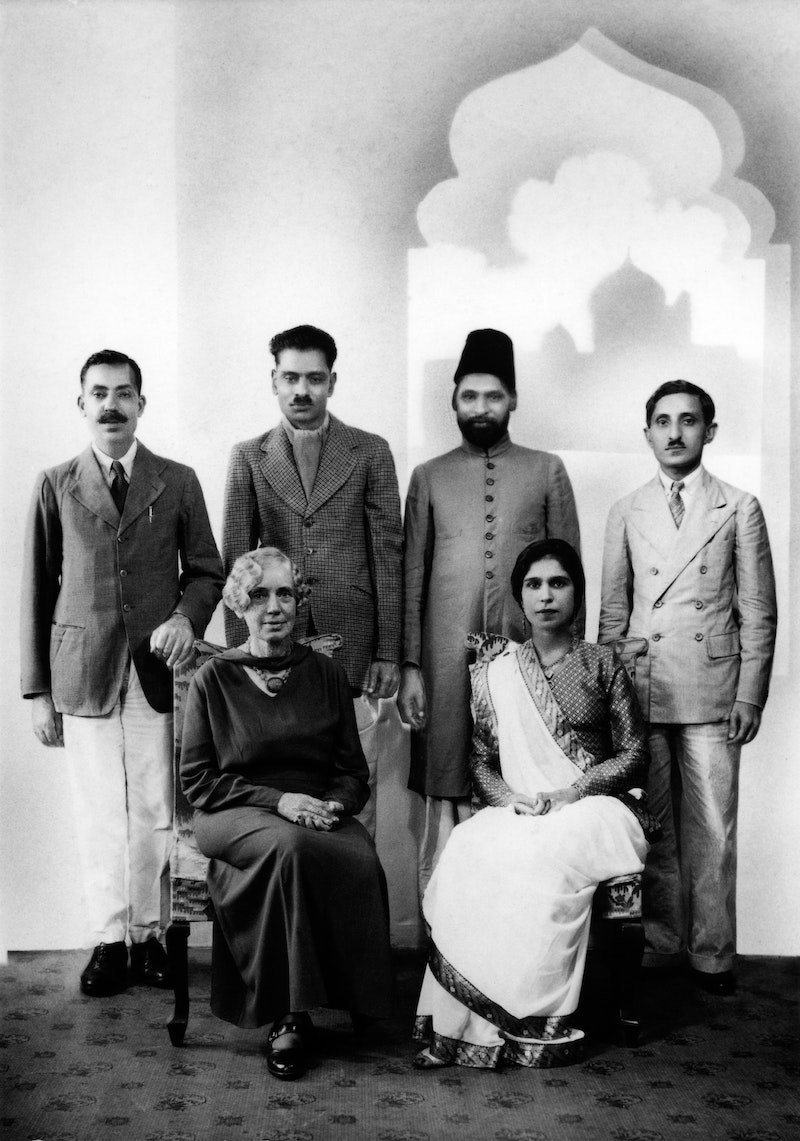 Hand of the Cause Martha Root with a group of Bahá'ís in Bombay (now Mumbai),