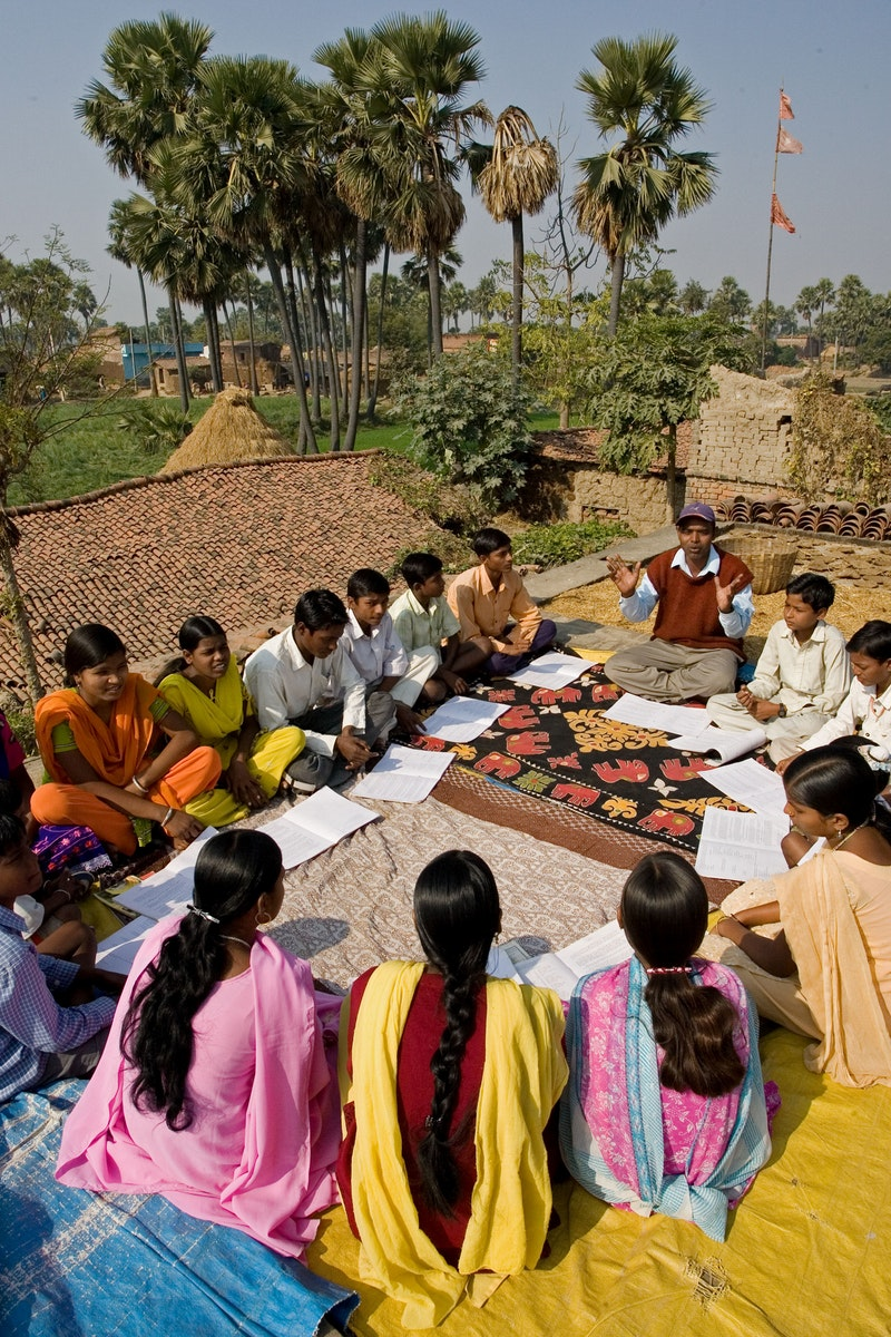 A Bahá'í study circle in Biharsharif, India
