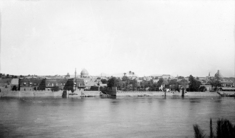 Historical view of Baghdad and the Tigris River, c. 1930
