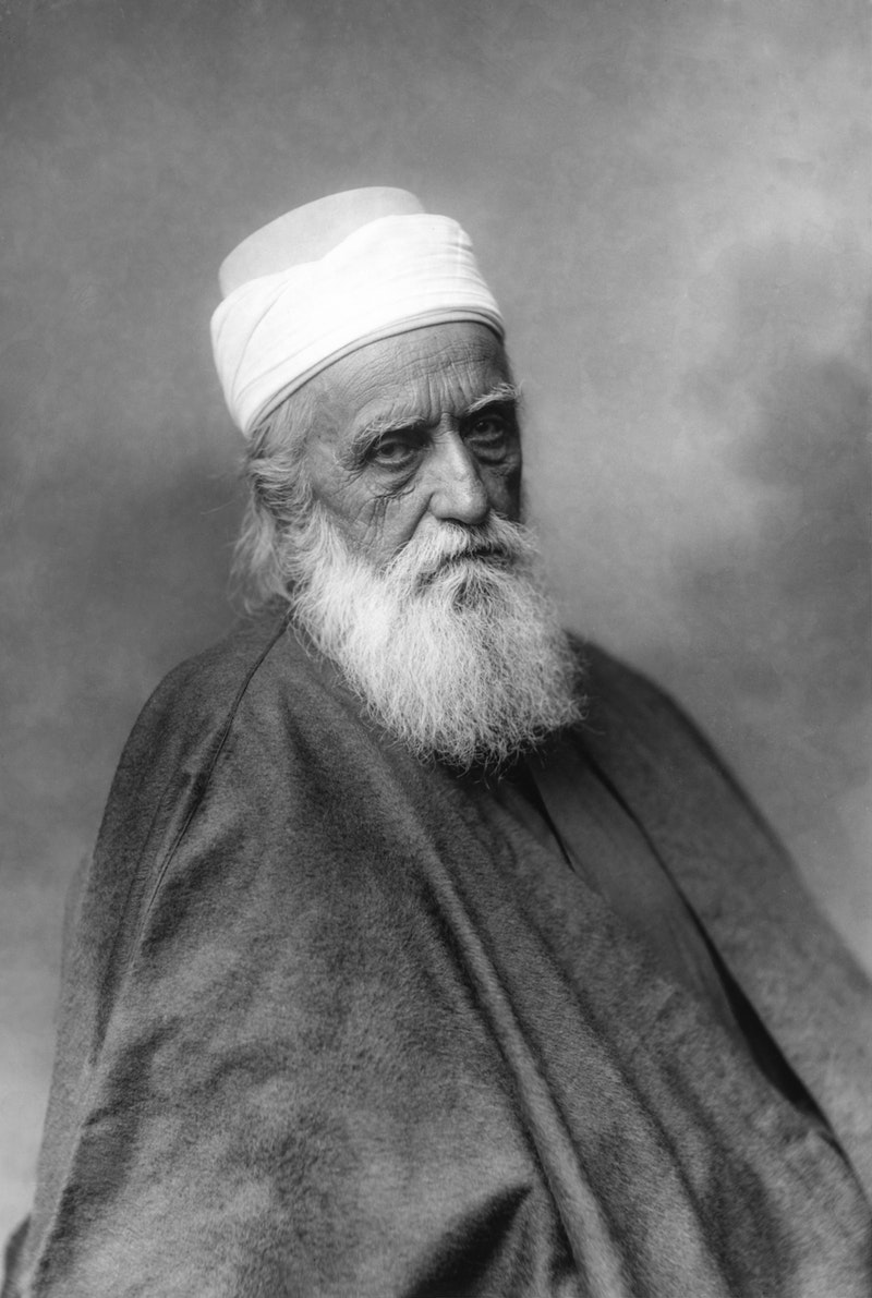Portrait of 'Abdu'l-Bahá taken in Paris, France, October 1911