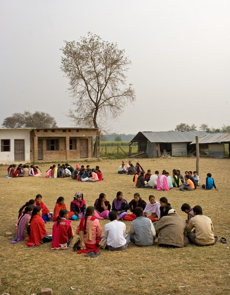 A number of Bahá'í study circles meeting together in East Kanchanpur,