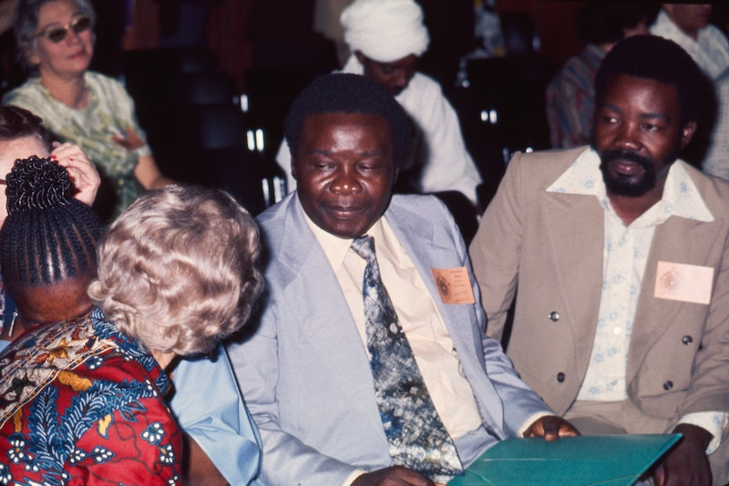 Hand of the Cause Enoch Olinga at the International Teaching Conference in Nairobi,