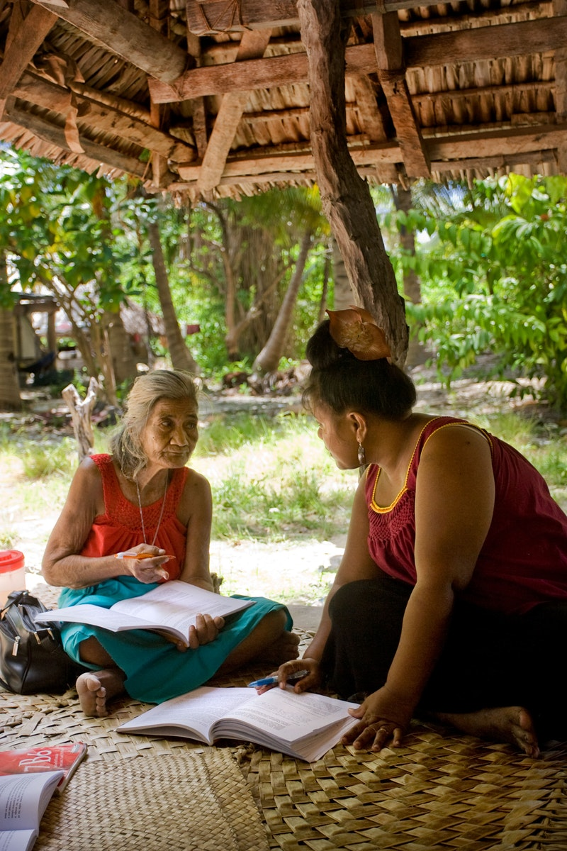 A Bahá'í study circle in South Tarawa, Kiribati