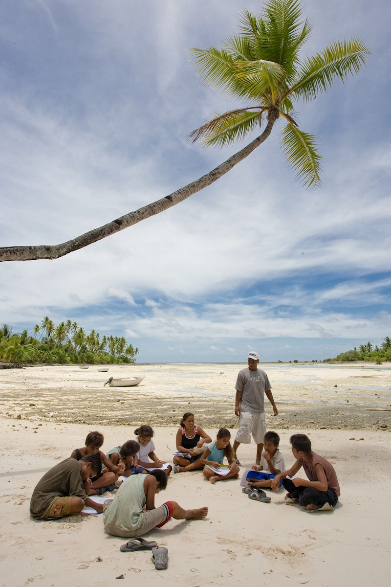 A group studying the spiritual empowerment of junior youth in South Tarawa,