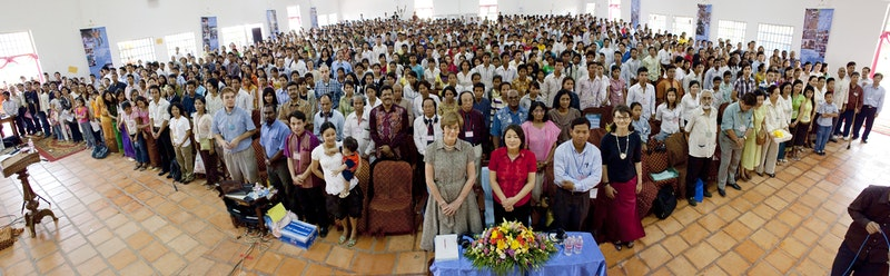 Battambang, Cambodia, one of 41 Regional Conferences held around the world called