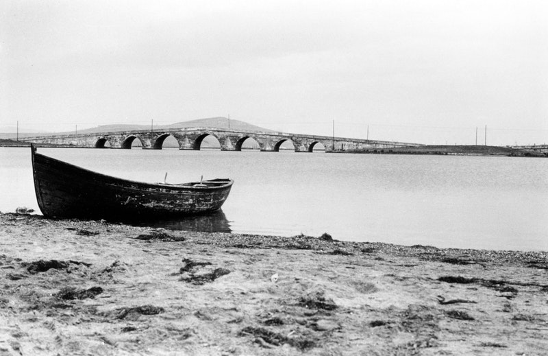 The bridge at Büyükçekmece, Turkey, which Bahá'u'lláh and His companions crossed on