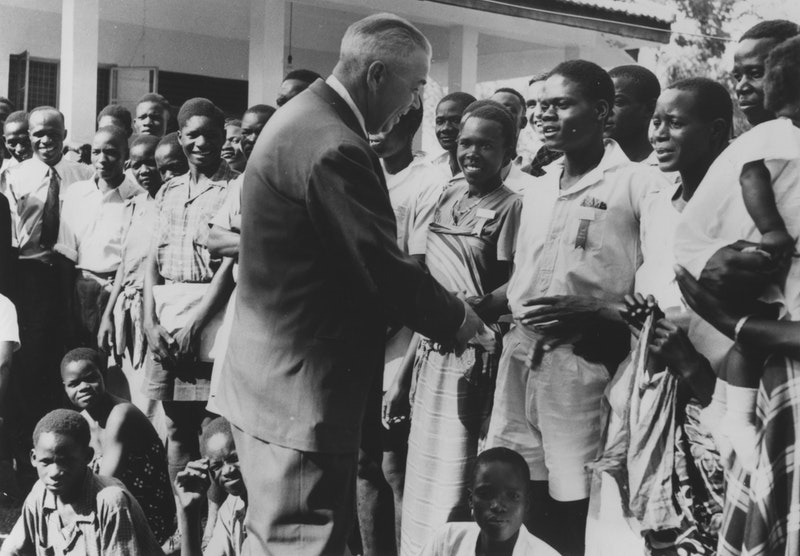 Hand of the Cause Leroy Ioas at the International Teaching Conference, Kampala,