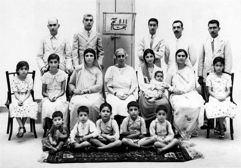 Hand of the Cause Martha Root with a group of Bahá'ís in Karachi, Pakistan, July