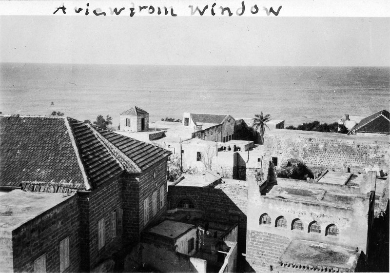 The view from the prison cell occupied by Bahá'u'lláh in Akká, early