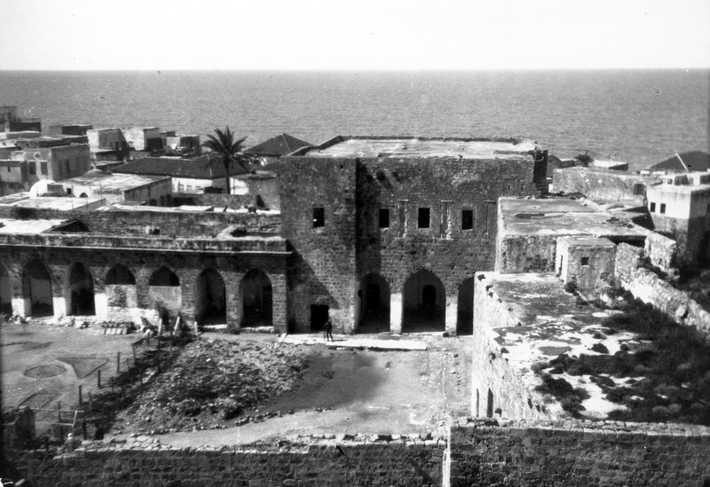 View of the citadel courtyard in 'Akká, 1920s