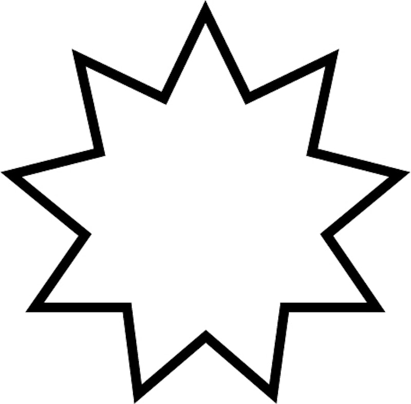 Nine-pointed star outline