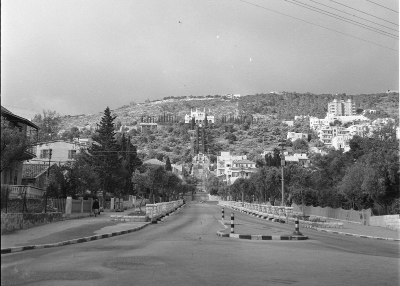 Construction of the Shrine of the Báb, 1952