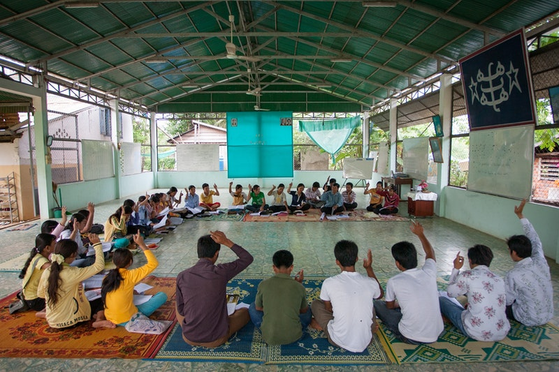 A commnuity gathering at the Baha'i centre in Battambang, Cambodia.