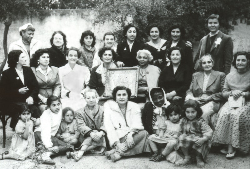 Women attending the first National Convention in Tunis, Tunisia, April