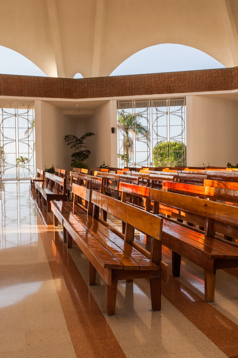 Interior of the Continental Bahá'í House of Worship of Central America (Panama
