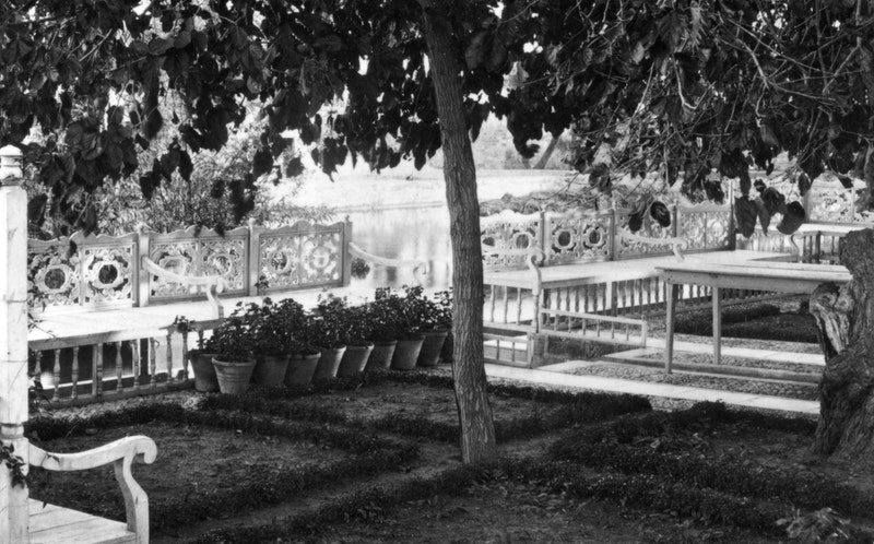Bench of Bahá'u'lláh at Ridván Garden, c. 1925