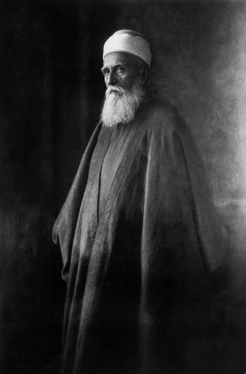 Portrait of 'Abdu'l-Bahá in Paris, France, October 1911