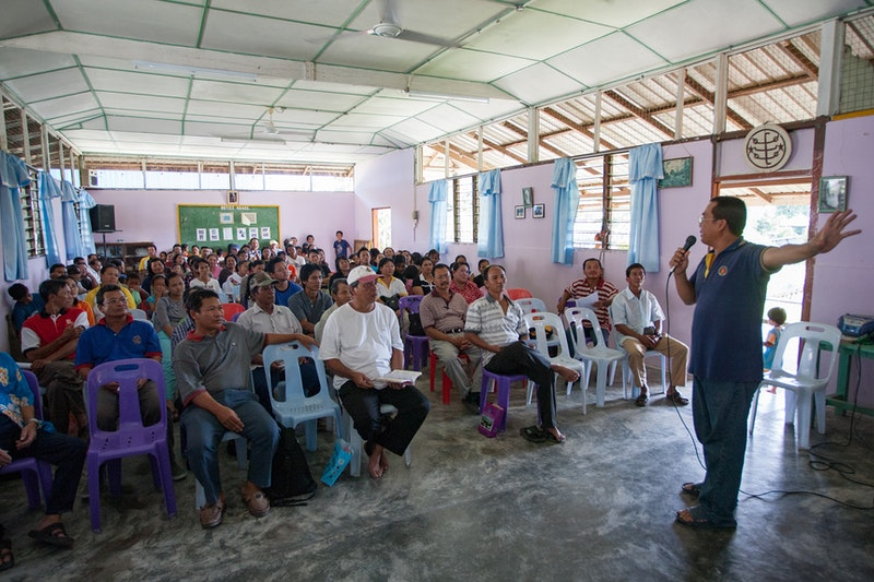 Community meeting at the Baha'i Centre in Kampung Selampit in Sarawak,