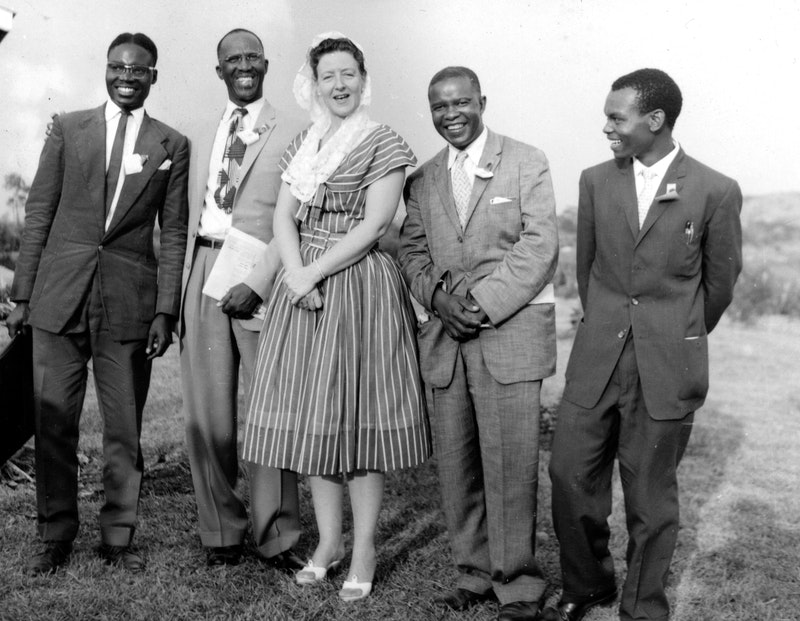Hand of the Cause Amatu'l-Bahá Rúhíyyih Khánum in Kampala, Uganda, January 1961