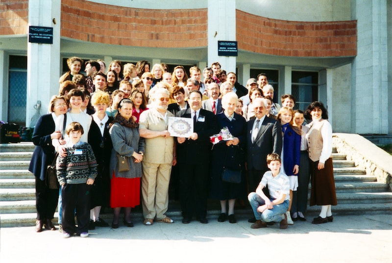 Participants of the first National Convention in Moldova, with Knight of
