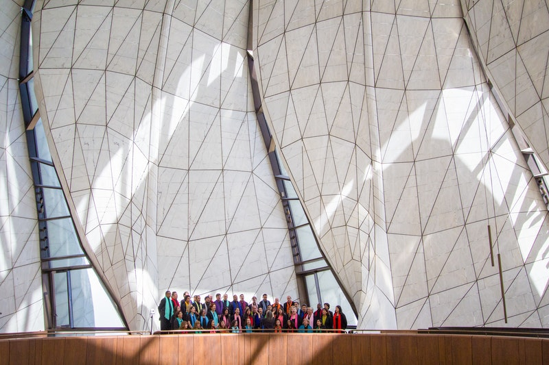 A choir performs at the Dedication of the Continental Bahá'í House of Worship of