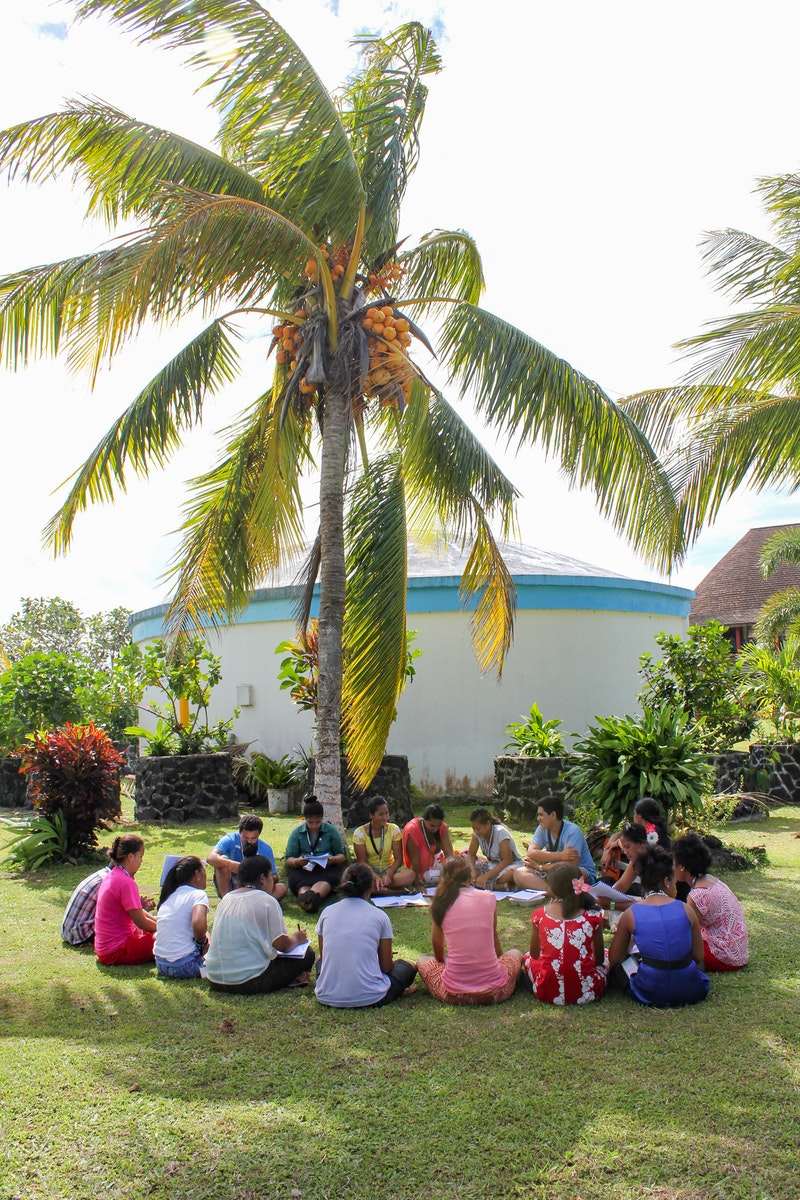 Apia, Samoa, one of 114 youth conferences held around the world called by the