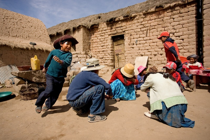 A children's class in Machacamarca, Bolivia