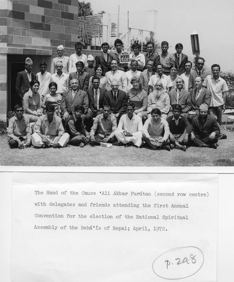 First National Convention of Nepal, with Hand of the Cause `Alí-Akbar Furútan,