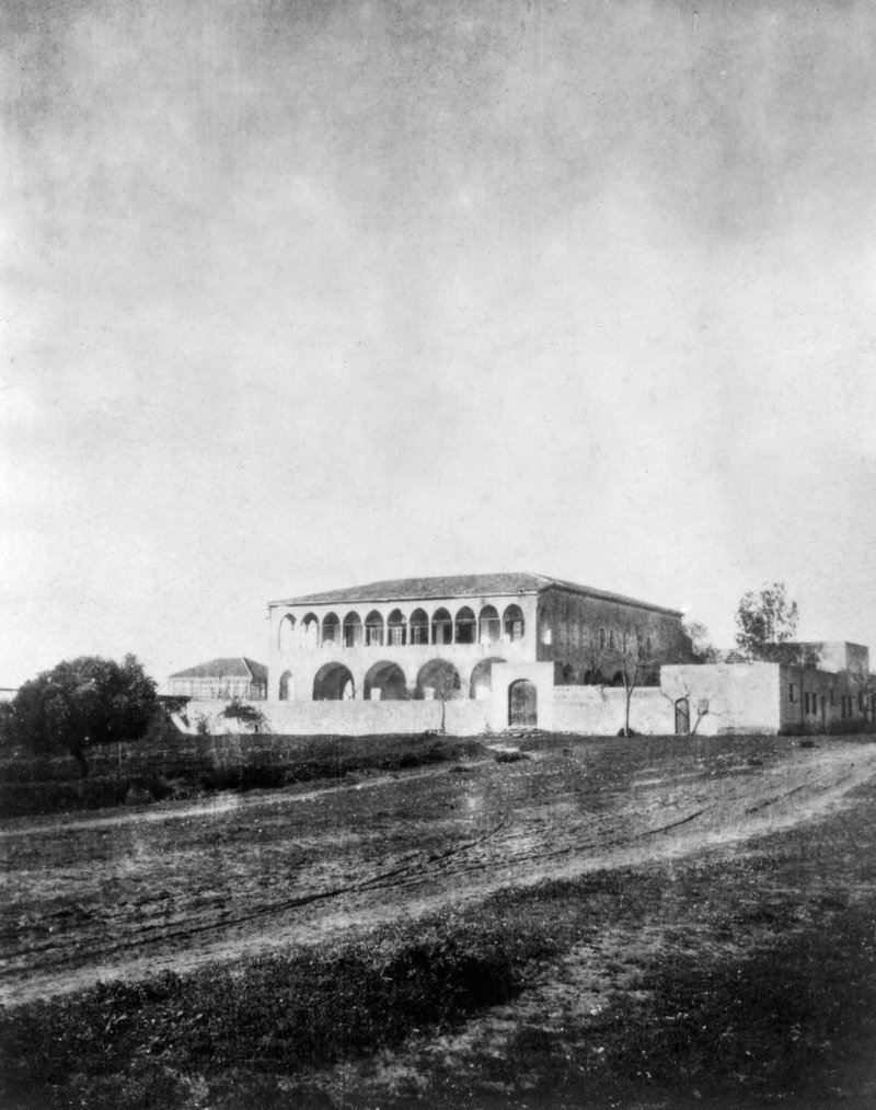 Mansion of Bahjí where Bahá'u'lláh spent the final years of His life, early 1900s