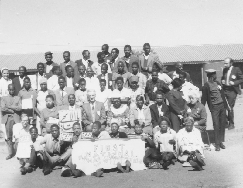 Participants of the National Convention in Botswana with Hand of the Cause Paul Haney, 1970